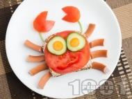 Рецепта Детски сандвич Рачо Капитана